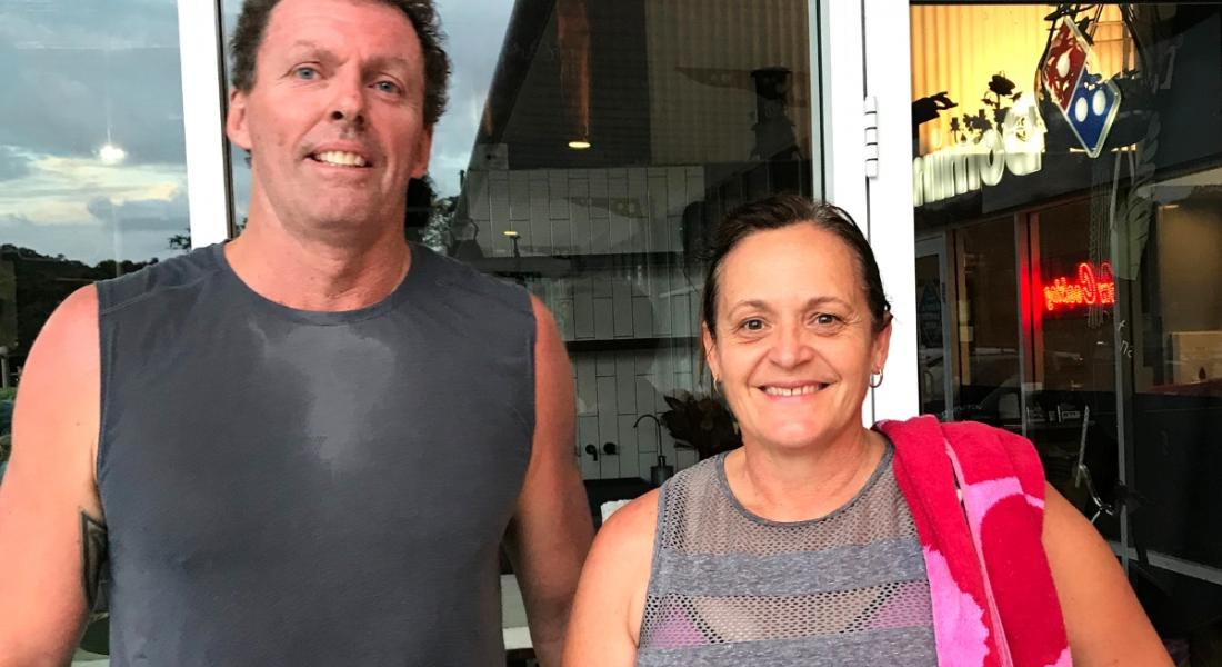 Burleigh Heads gym lovers Wayne and Maria Oksanen